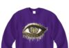 New orleans saints gold eyes glitter