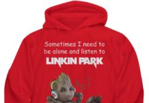 Groot sometimes I need to be alone and listen to Linkin Park