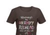 Warning this grumpy redhead does not play well with stupid people floral shirt