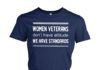 Women veterans don't have attitude we have standards women's crew tee