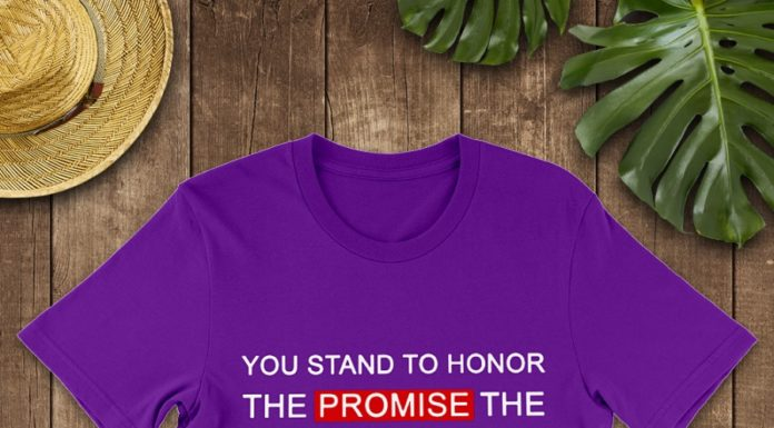 You Stand to Honor The Promise The Flag represents I Kneel Because That Promise Has Been Broken shirt