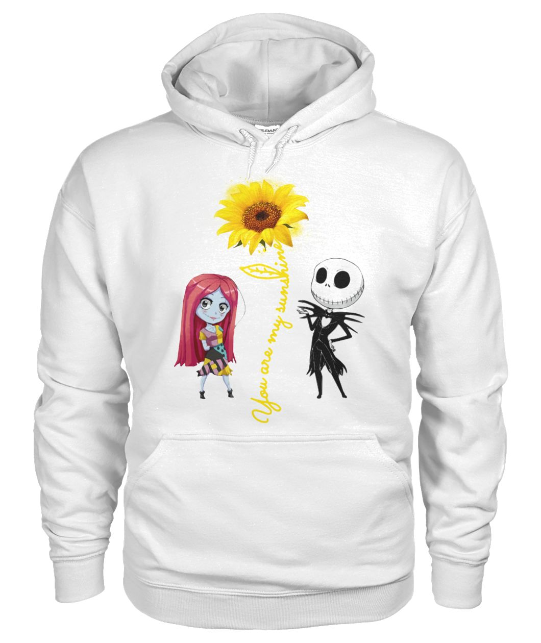 You are my sunshine Jack and Sally chibi gildan hoodie