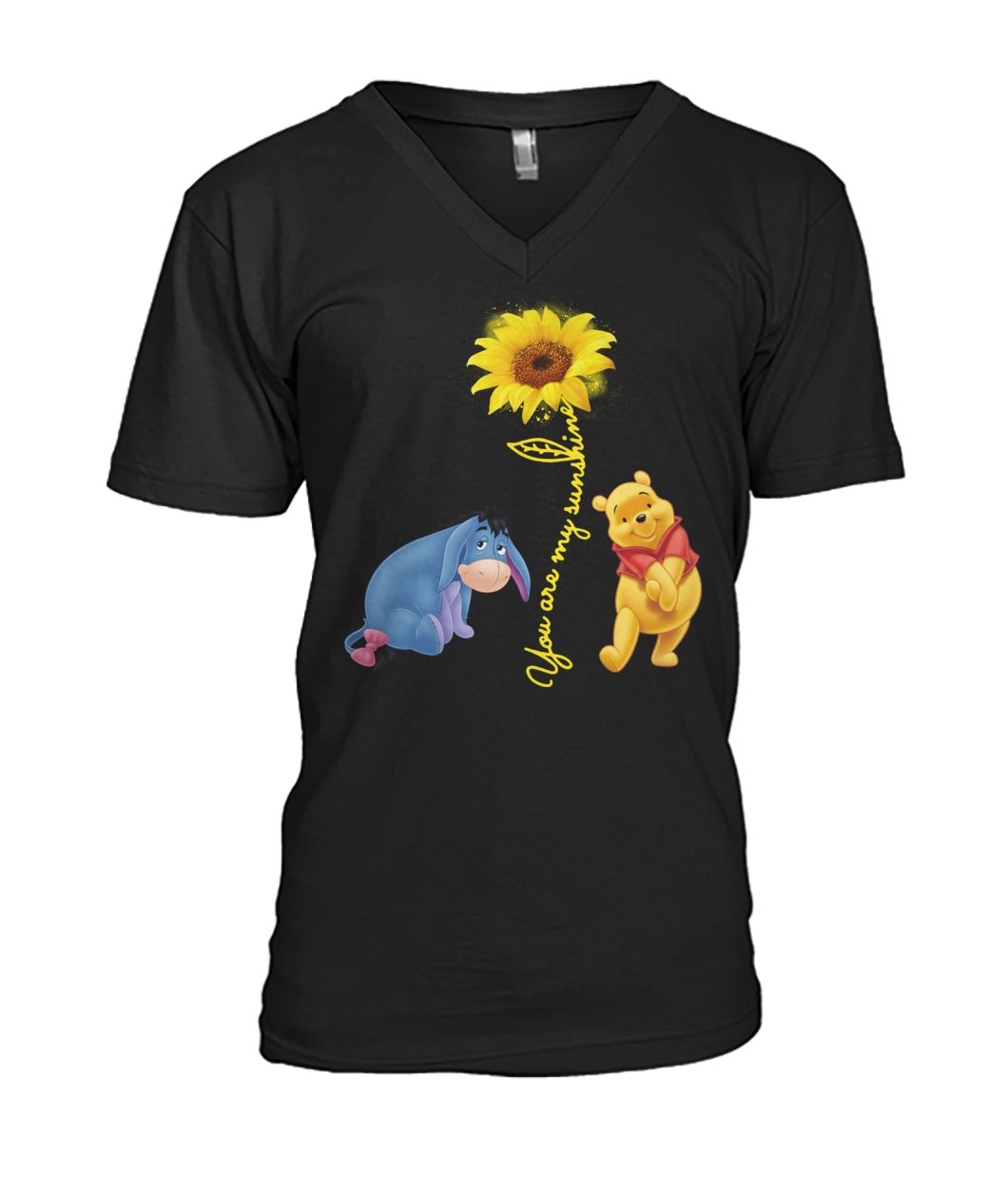 You are my sunshine Pooh and Winnie mens v-neck