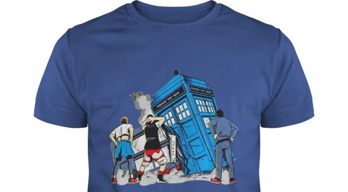 Bill and Ted Doctor Who colliding in time shirt