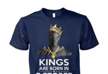 Black panther kings are born october unisex cotton tee