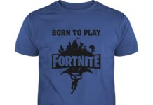 Born to play Fortnite forced to go to school shirt