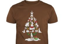 Broadway musical theatre christmas tree shirt