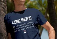 Caninetrovert an individual who prefers to be surrounded by dogs shirt