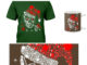 Christmas Rhinestone Smiling Skull shirt, poster and mug