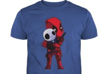 Deadpool hug Jack Skellington shirt