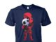 Deadpool hug jack skellington unisex cotton tee