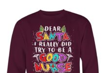 Dear santa I really did try to be a good nurse but my mouth christmas sweater
