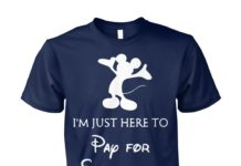 Disney Mickey mouse I'm just here to pay for everything unisex cotton tee