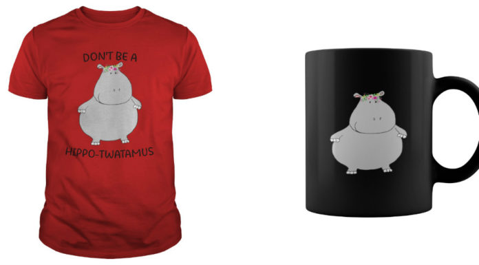 Don't be a Hippo Twatamus Mug and shirt