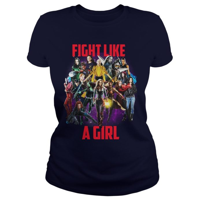 Fight Like A Girl Marvel shirt