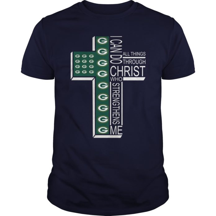 Green Bay Packers I can do all things through Christ who strengthens me shirt