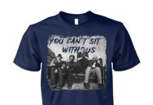 Halloween Freddy Jason Michael myers and Leatherface you can't sit with us unisex cotton tee