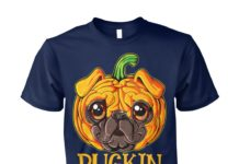 Halloween pug pumpkin pugkin unisex cotton tee