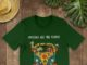 Hippie Car Imagine All The People Living Life In Peace shirt