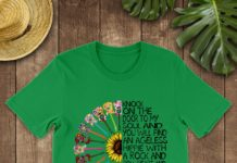 Hippie Sunflower knock on the door to my soul and you will find an ageless hippie with a Rock and Roll heart shirt