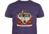 Hippie flower peace bus dog shirt