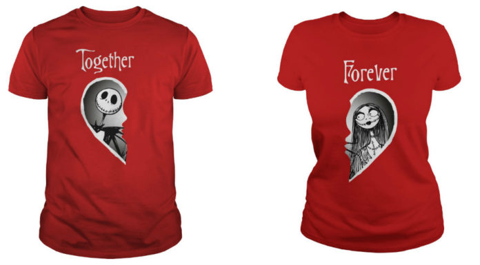 Jack and Sally Together Forever shirt