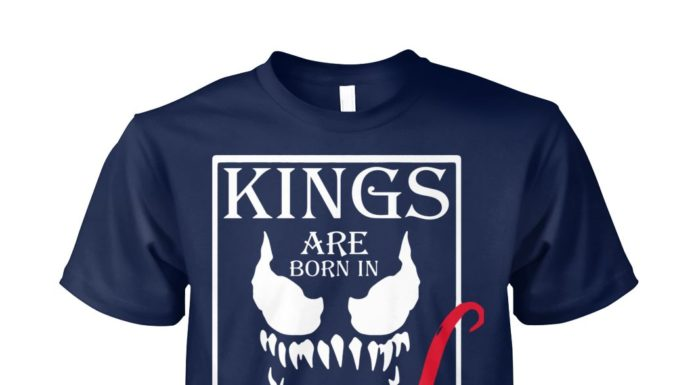 Kings are born in october unisex cotton tee