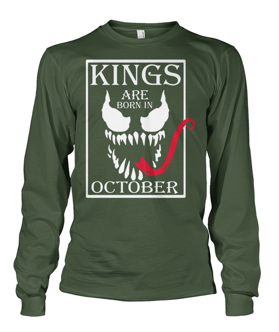 Kings are born in october unisex long sleeve