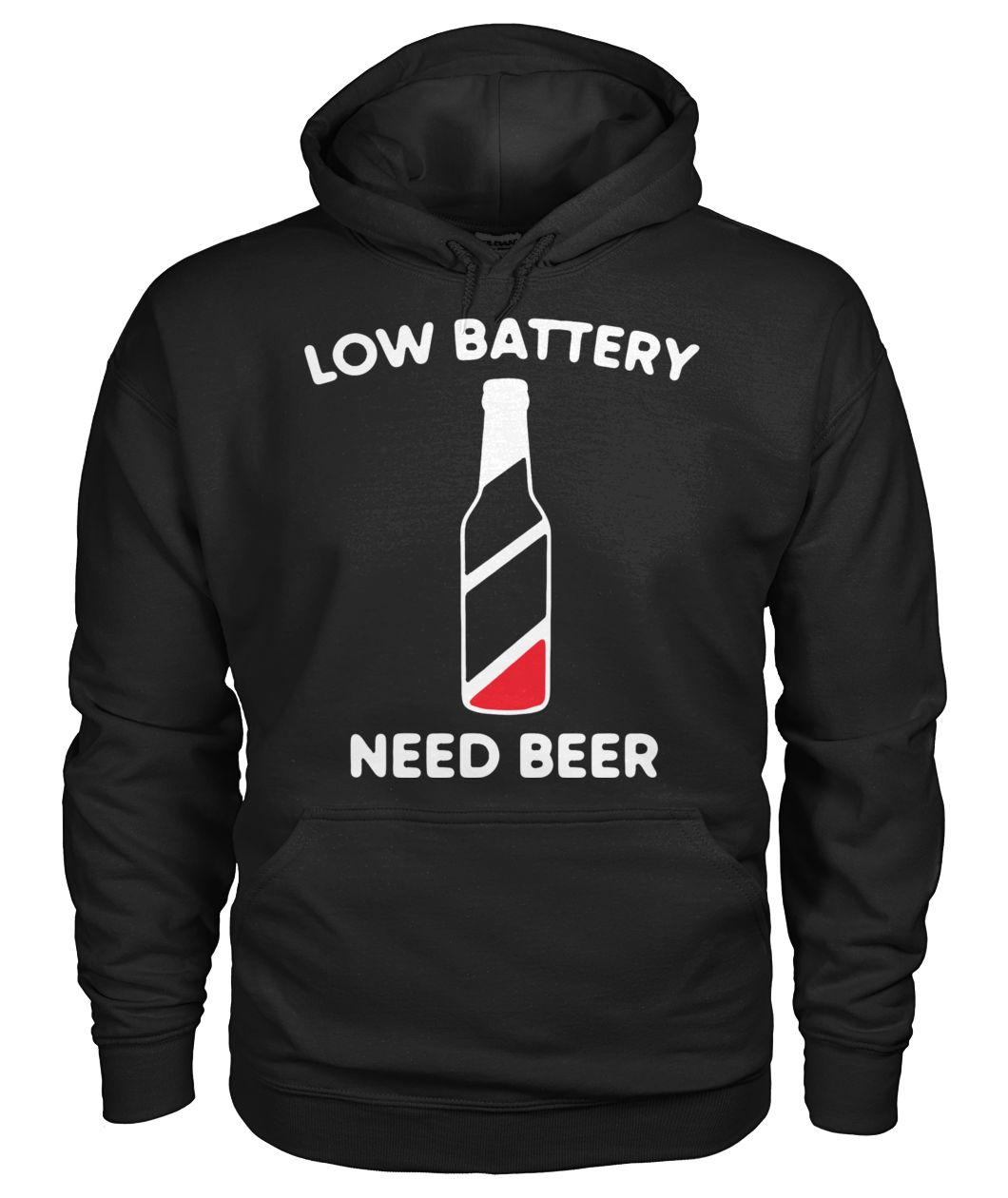 Low battery need beer gildan hoodie