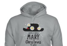 Mary Poppins Hat and a very mary Christmas to you hoodie