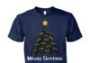 Meowy christmas tree unisex cotton tee