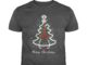 Merry Christmas nurse stethoscope Christmas tree shirt
