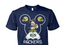 Mickey mouse love Green Bay Packers unisex cotton tee