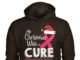 My christmas wish is a cure breast cancer awareness gildan hoodie