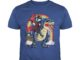 Ninja Unicorn Riding T-rex Dinosaur Rainbow shirt