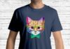 Rainbow Academicat Skeptical Kitten shirt