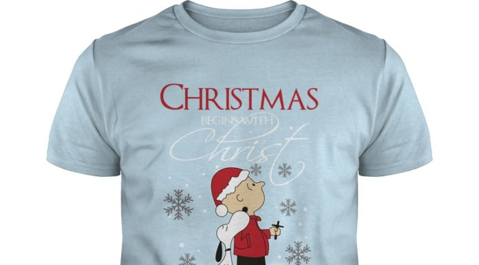 Snoopy And Charlie Brown Christmas Begins With Christ hoodie