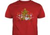 The Beatles plays music and sings under Christmas tree shirt