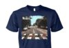 The wiener walking across abbey road unisex cotton tee