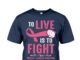 To live is to fight breast cancer survivor shirt