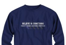 American Flag Believe in something even if it means sacrificing