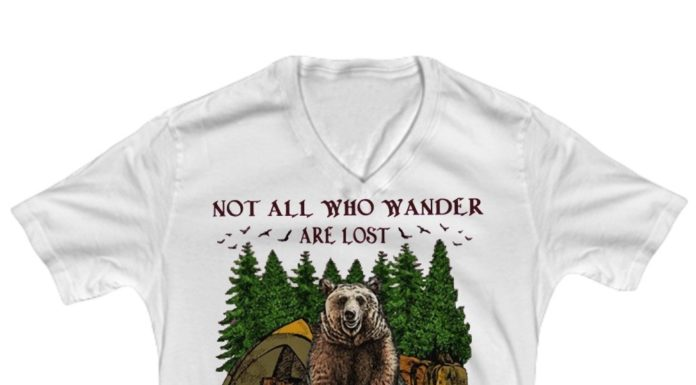 Camping hiking bear notall who wander are lost some become my breakfast