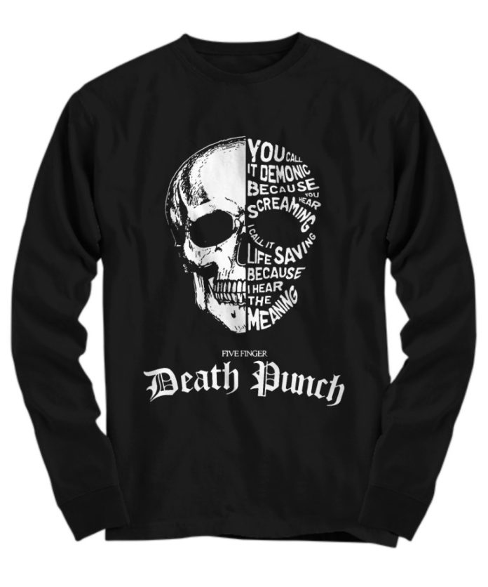 Five finger death punch you call it demonic because you hear screaming