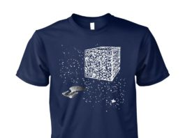 We are the borg resistance is futile space QR code guy shirt