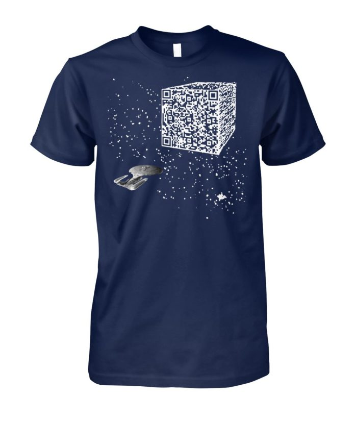 We are the borg resistance is futile space QR code unisex cotton tee