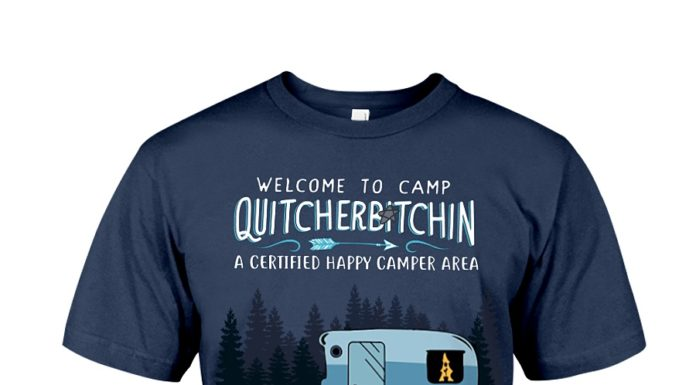 Welcome to camp Quitcherbitchin Dachshund dog shirt