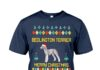 Bedlington terrier merry christmas shirt