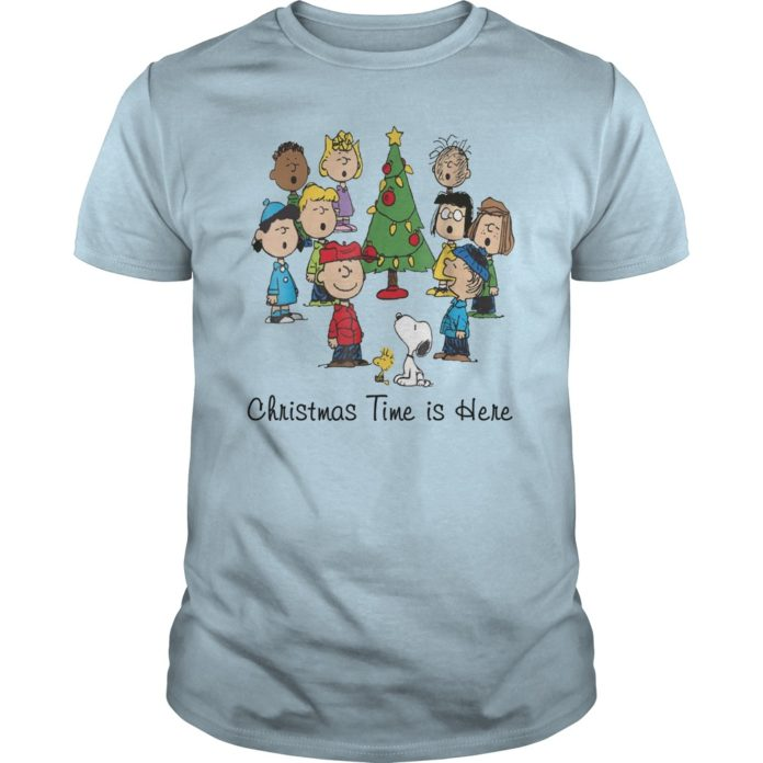Charlie Brown Snoopy and friends Christmas time is here shirt