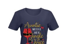 Christmas Auntie Needs Her Jingle Juice Glitter shirt