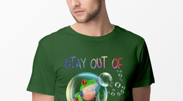 Frog Stay out of my bubble shirt